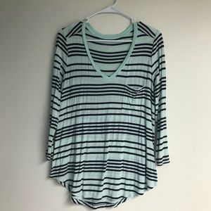 Mint Striped Top